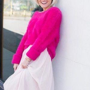 Lou & Grey Hot Pink Eyelash Pullover Sweater